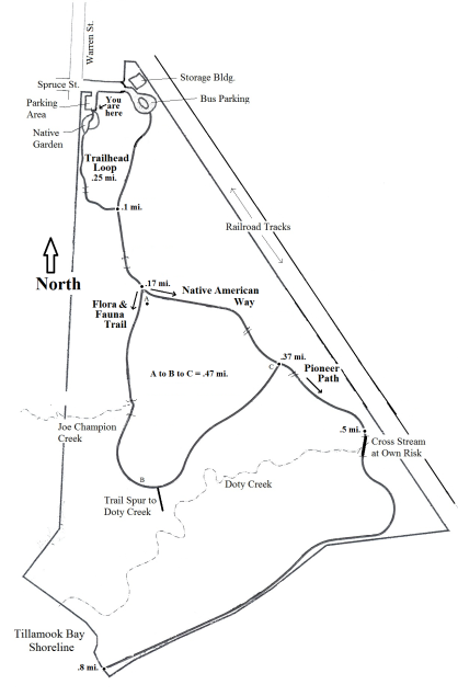 Trail Map of Kilchis Point Reserve